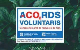 Ndavant empresa de servicios comprometida con el medio ambiente Acuerdos Voluntarios CO2